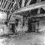 Image of Tithe Barn interior before restoration